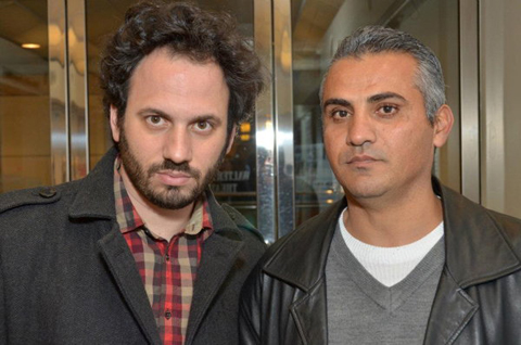Directors Guy Davidi and Emad Burnat.