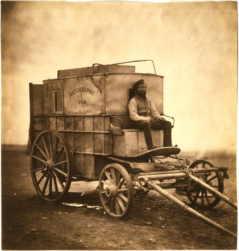 Roger Fenton's Photographic wagon and darkroom.
