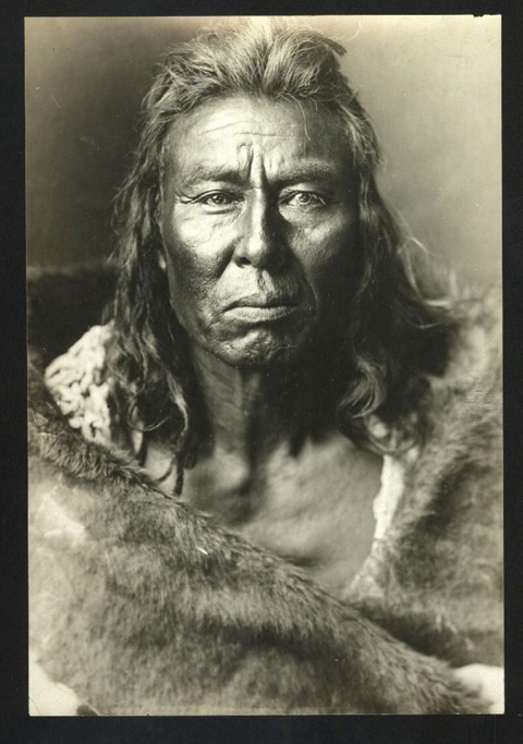 Arikara Man. Edward Curtis.