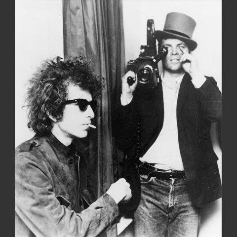 Don Pennebaker with Bob Dylan.