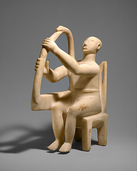 Harp player, gallery 151.