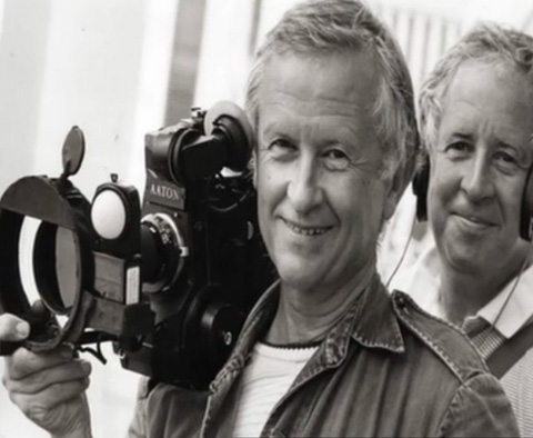 Al Maysles with his Aaton, successor to the NPR. HIs brother David is in the background.