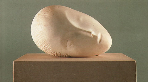 "Brancusi ""Sleeping Muse,"" 1907."