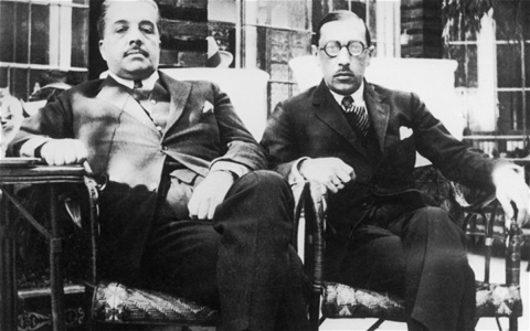 Serge Diaghilev and Igor Stravinsky.