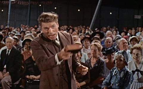 "Bible thumping Burt Lancaster in ""Elmer Gantry,"" 1960."