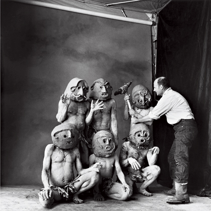 "Irving Penn, ""Worlds in a Small Room"" in New Guinea."