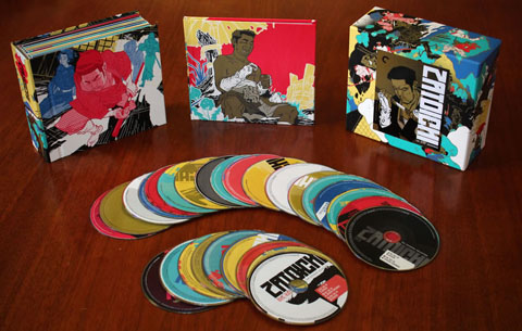 Criterion's colorful box set.