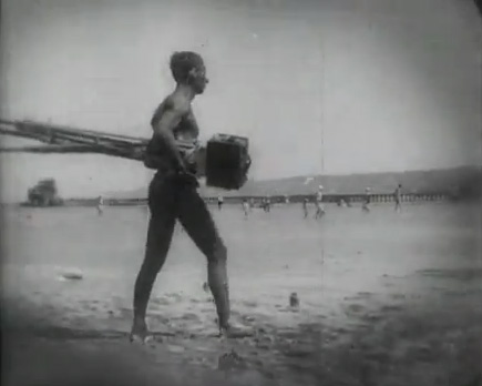 Kaufman setting up for a beach sequence.