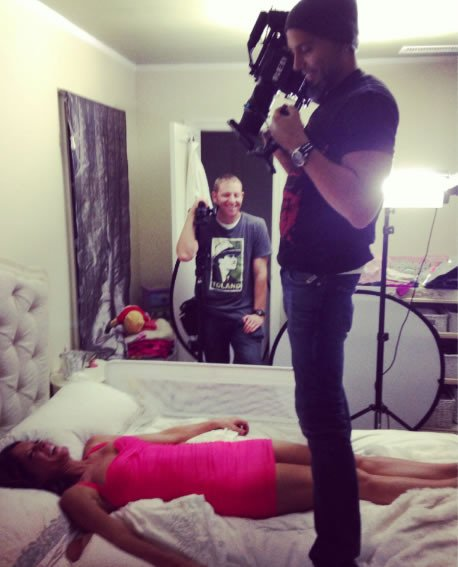 "Stafford ""in bed"" with cameraman Franklin Guerrero, Jr."