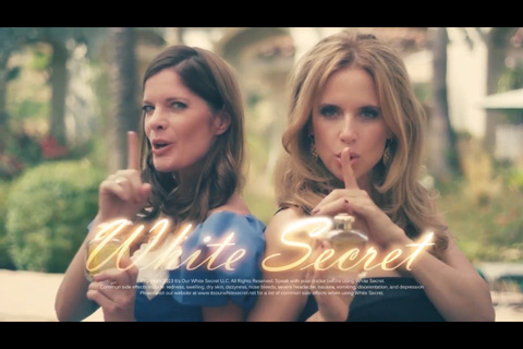 With Kelly Preston in parodic perfume commercial, Episode 4.