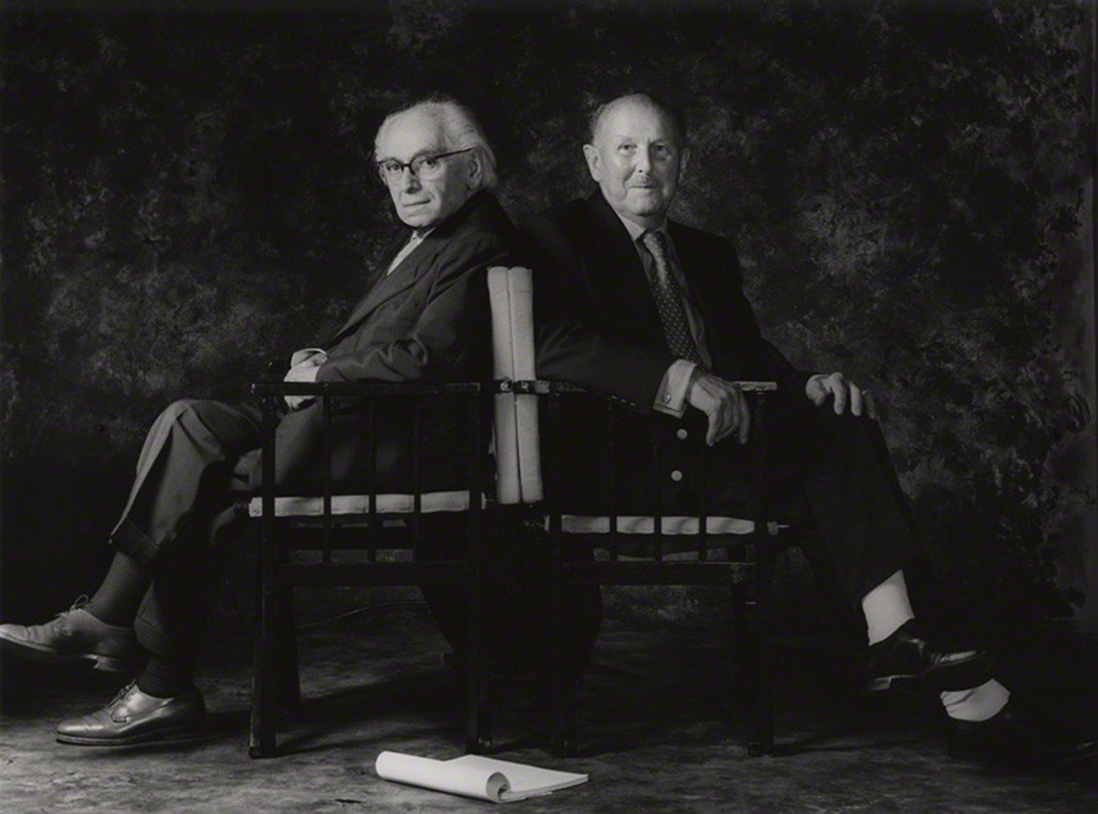 Pressburger (left) and Powell in 1985. (Credit: Cornel Lucas)