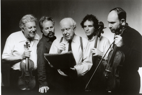 Carter with the Juilliard Quartet