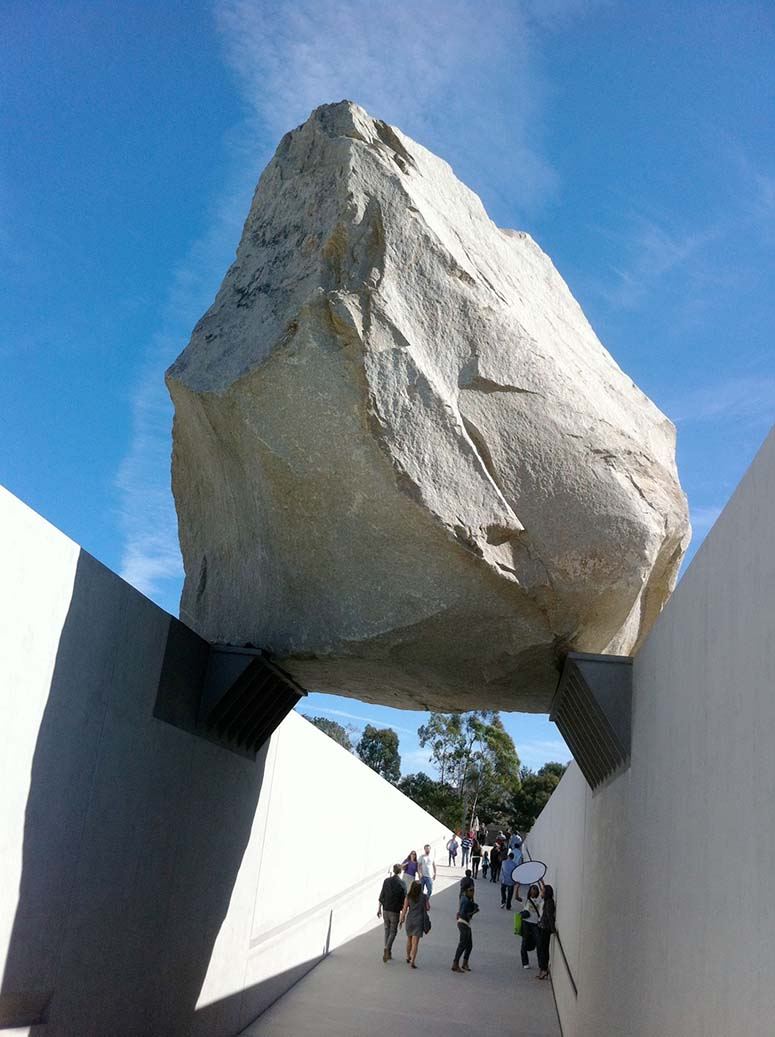 Heizer's Levitated Mass