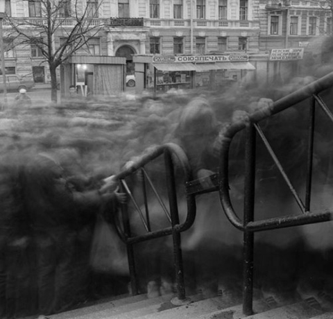 "Titarenko ""City of Shadows, Variant Crowd 2"" 1993"
