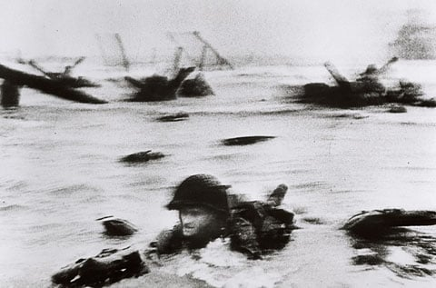 June 6, 1944 D-Day, photo by Robert Capa.