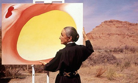 O'Keeffe at Ghost Ranch, photo by Tony Vaccaro.