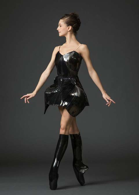 Iris Van Herpen 2013 costume for New York City Ballet dancer.