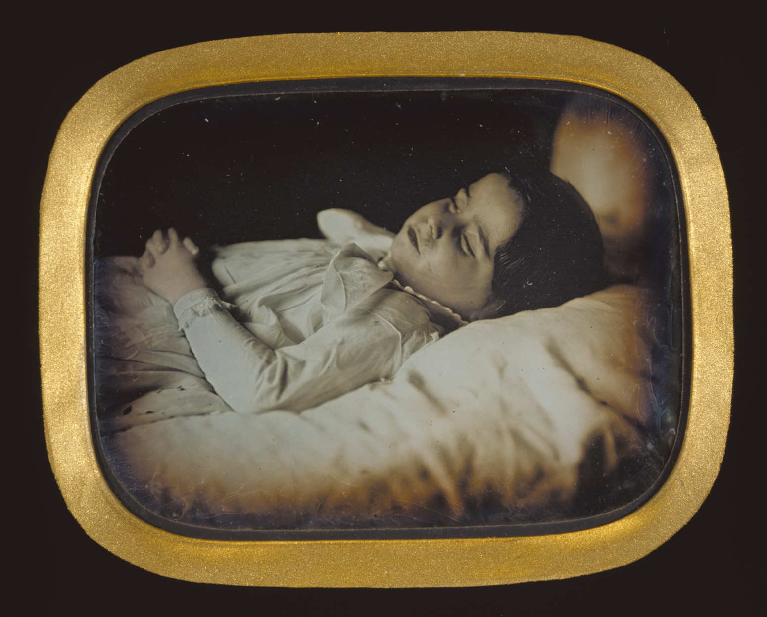 A post-mortem portrait of a child from the Getty Museum collection.