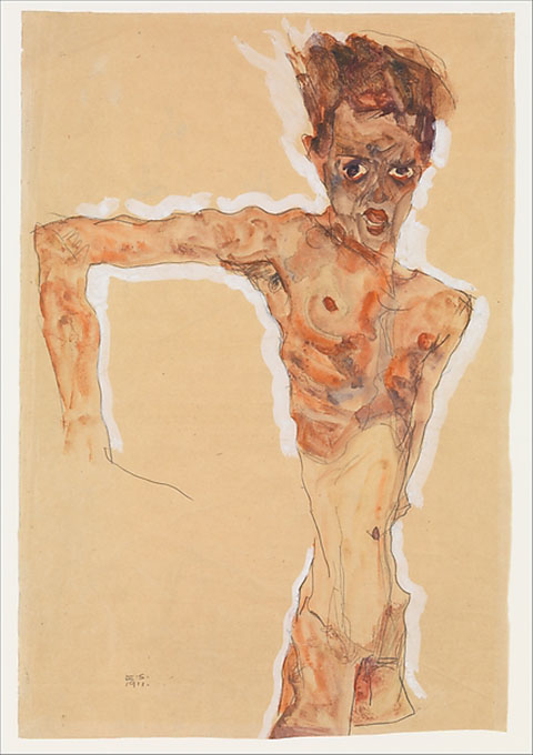 Self-Portrait, Egon Schiele