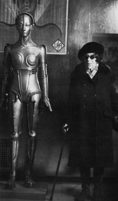 "Eisner and Maria, the ""Metropolis"" Robot, 1979."