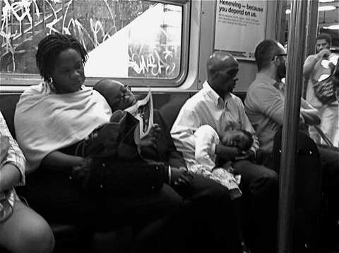 "On the ""C"" train, Brooklyn bound. October, 2013"