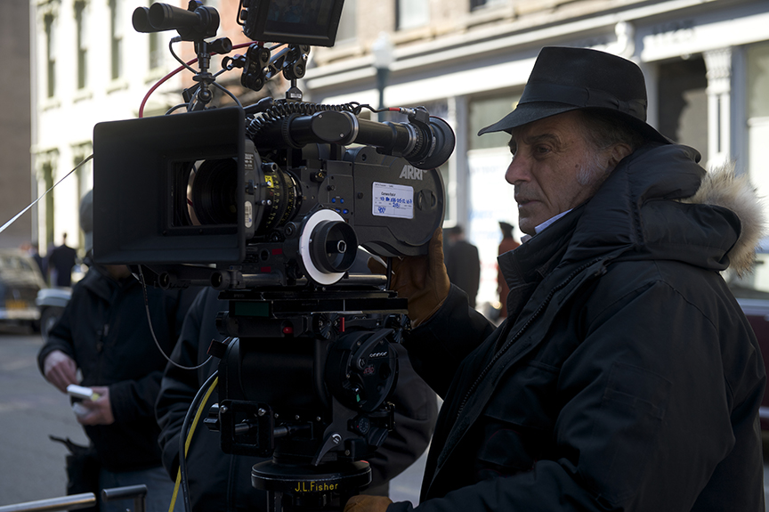 Edward Lachman, ASC on location shooting the Oscar-nominated drama Carol (2015). Photo by Wilson Webb