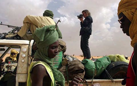 Addario at work in Darfur