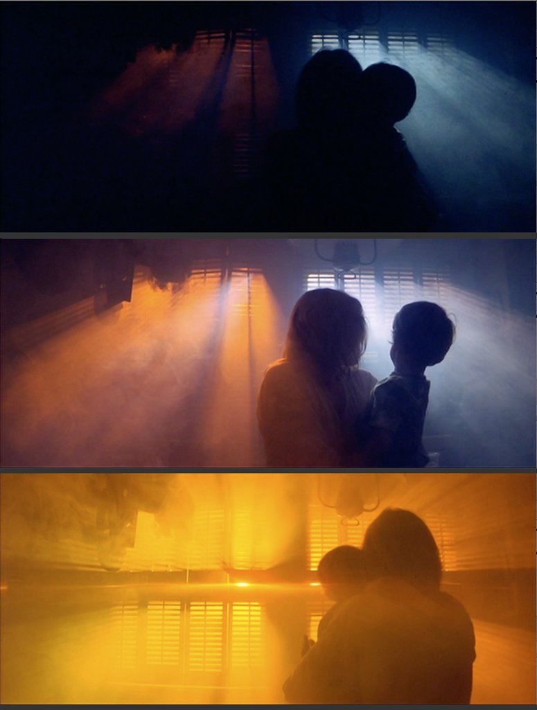 3 frames from Close Encounters of the Third Kind cinematography by Vilmos Zsigmond