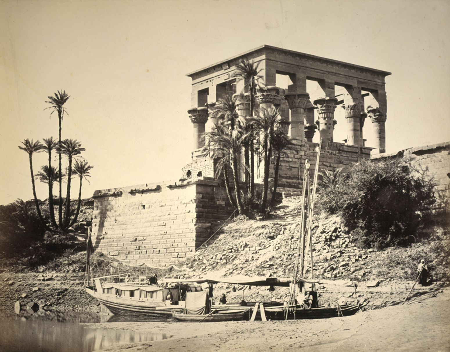 A photo of Hypaethral Temple in 1857 by Francis Frith.