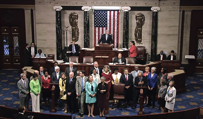 House Democrats begin sit-in, June 2016.