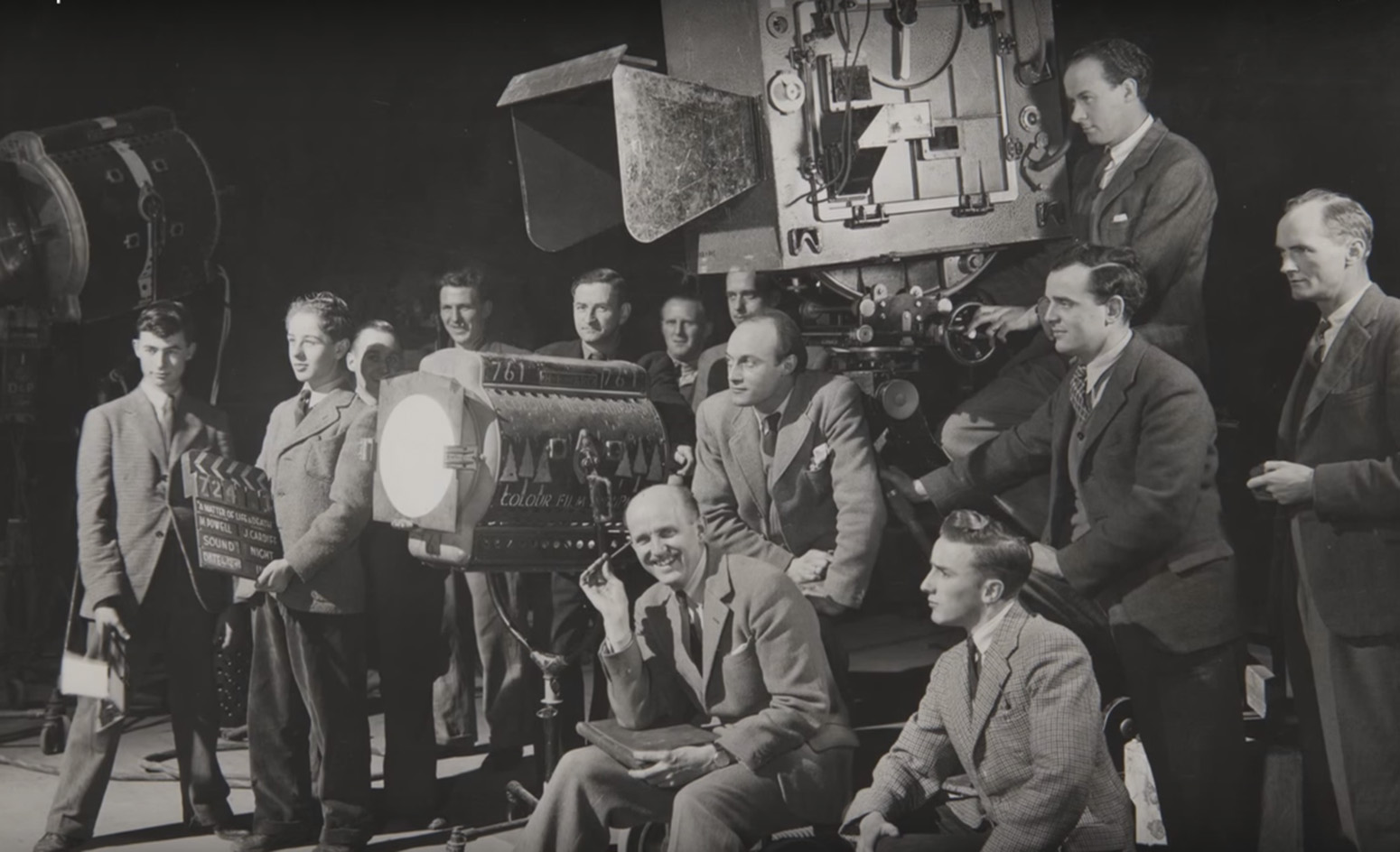 Michael Powell and crew on A Matter of Life and Death.