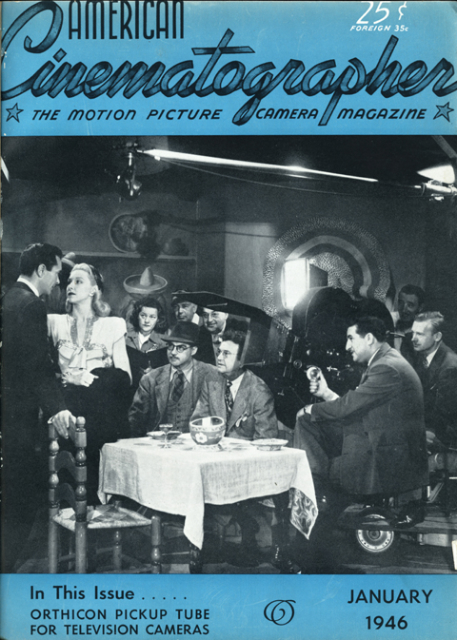 """Suspense,"" 1946. Struss is at the right side of the matte box."