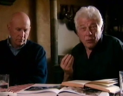 Salgado and John Berger in a frame from The Spectre of Hope.