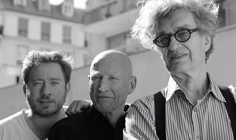 The Selgados with Wim Wenders.