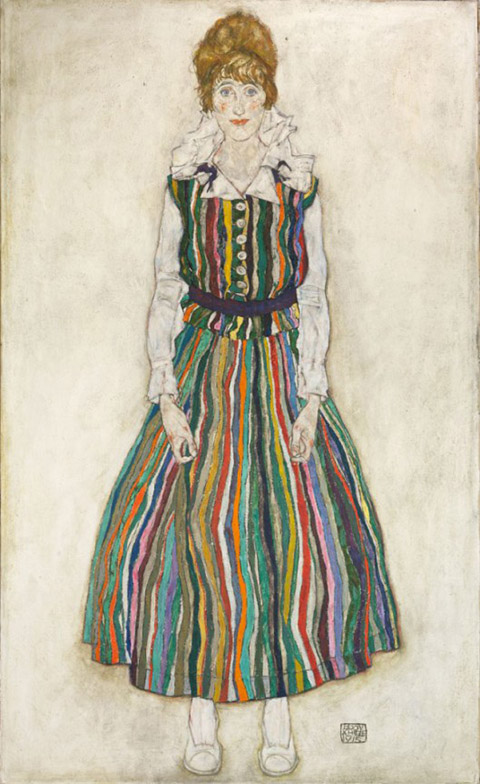 6. edith harms in striped dress
