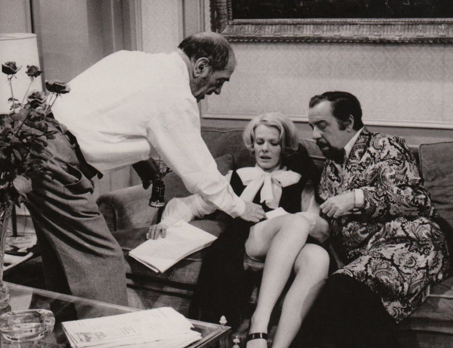Buñuel (left) at work on The Discreet Charm of the Bourgeoisie.