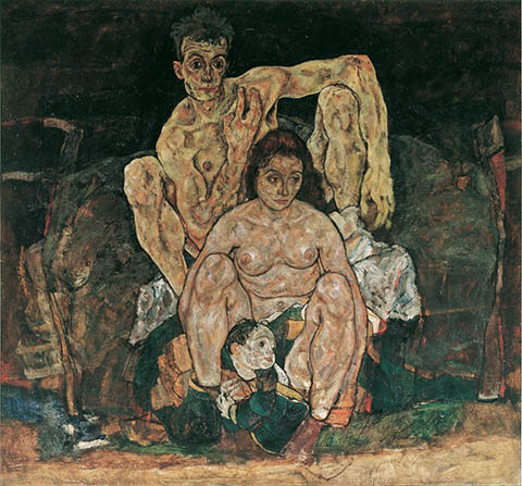 The Family (Self-Portrait), Schiele