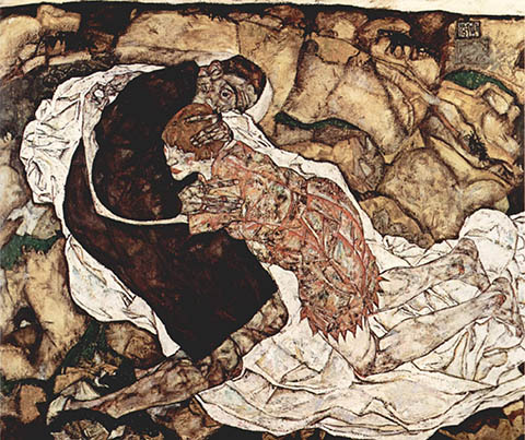 Death and Maiden, Schiele