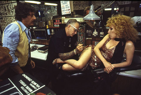 The star gets a tattoo. (Credit: The Criterion Collection)