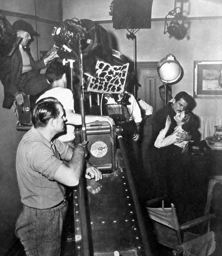 On the set of The Gunfighter