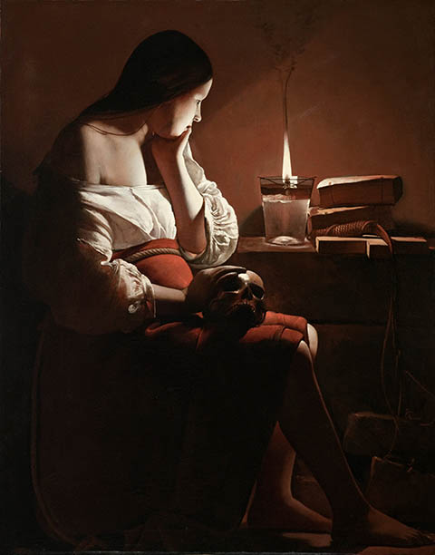 The Magdalen with Smoking Flame, Georges de La Tour