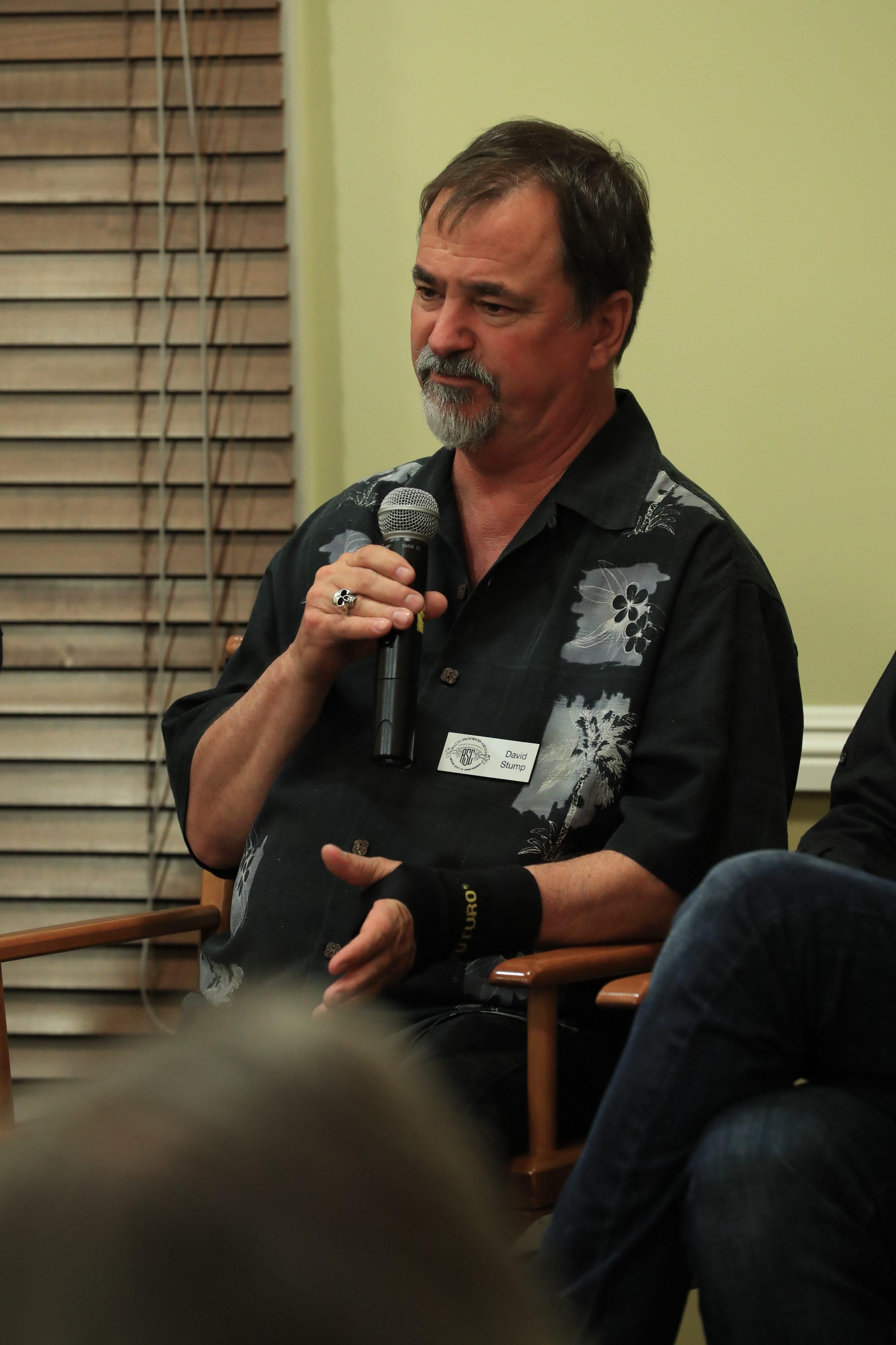 David Stump, ASC at the ICS 2016 VR event. Photo by James Neihouse, ASC