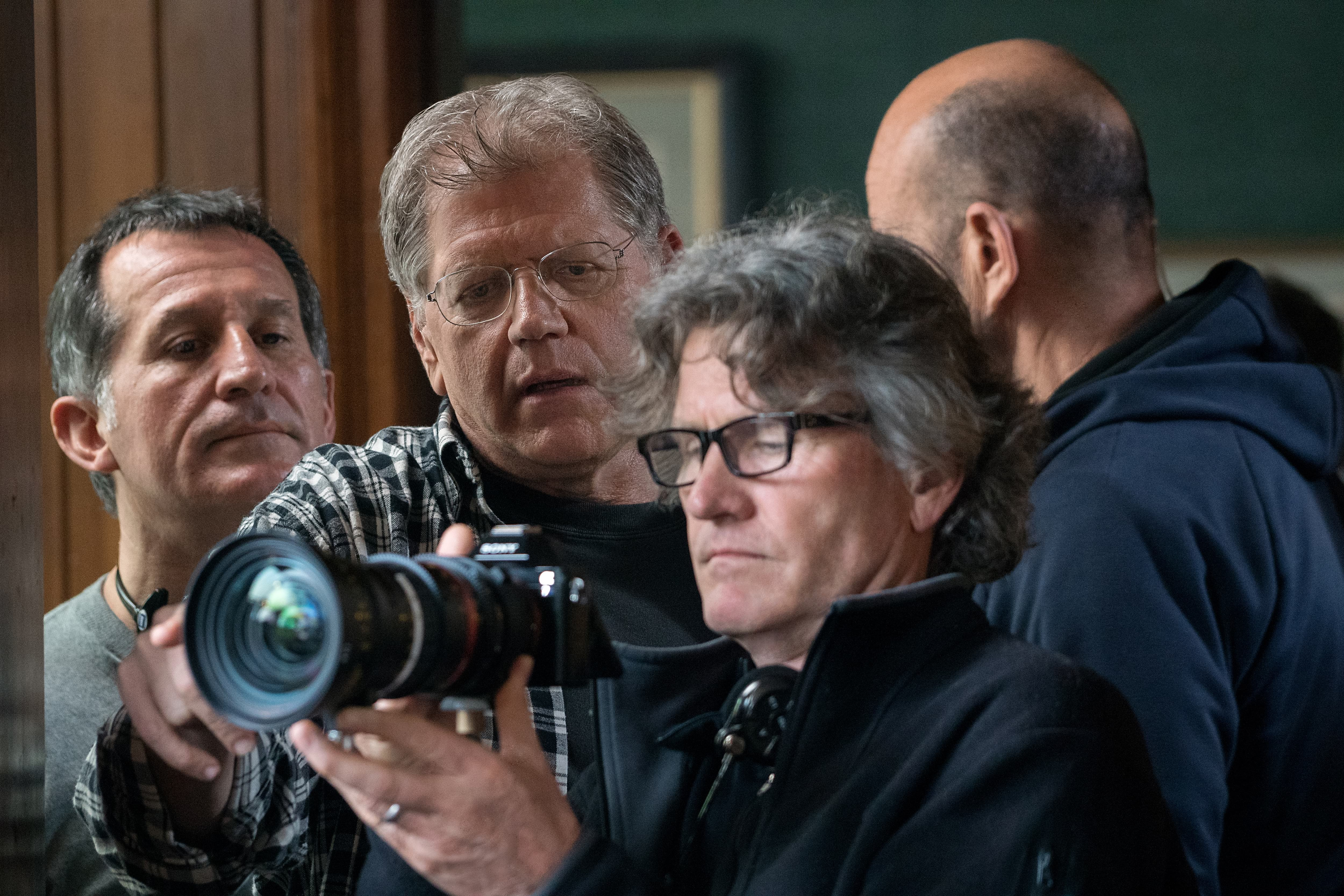Director Robert Zemeckis and director of photography Don Burgess, ASC on the set of Allied.