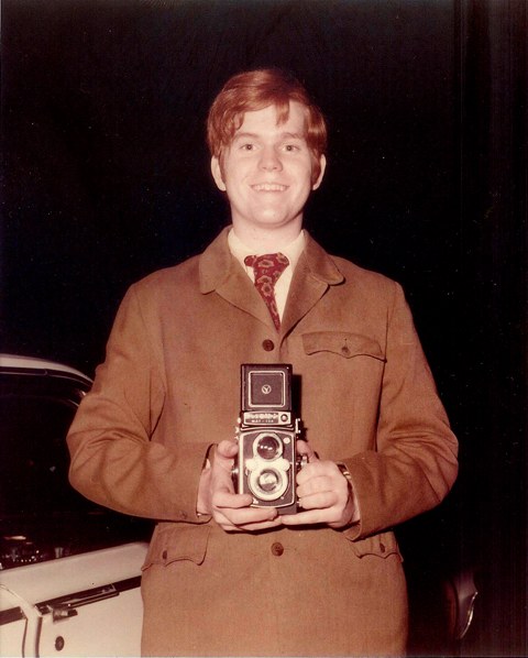 Bill at age 17, ready for his gig as a wedding photographer's assistant. Within a year or so, he was making films for THE NOW EXPLOSION!