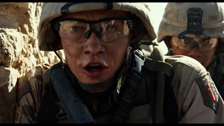 Billy Lynn in Iraq -from teaser for Billy Lynn's Long Halftime Walk by Ang Lee, with cinematography by John Toll, ASC