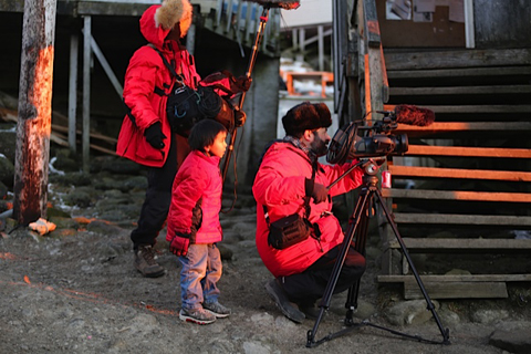 Boy watching filmming in Diomede (1 of 1)-2
