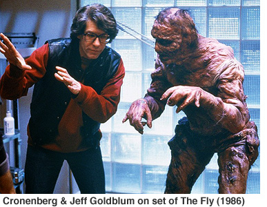 Cronenberg and Goldblum on set of The Fly