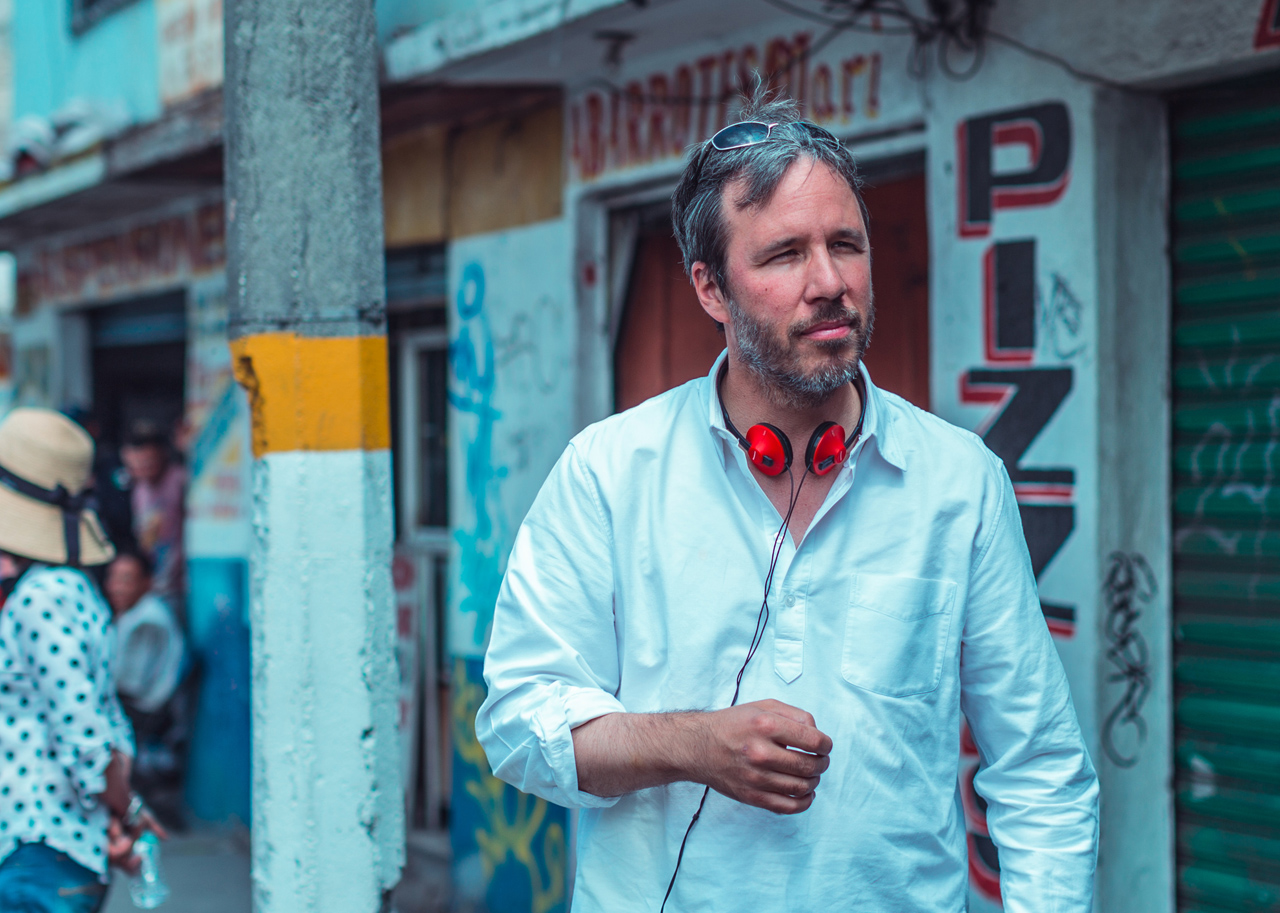 Denis Villeneuve on the set of Sicario