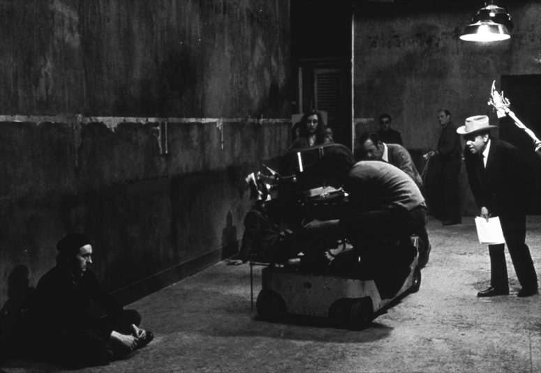 Director Jean-Pierre Melville sets up the last cigarette scene in Army of Shadows