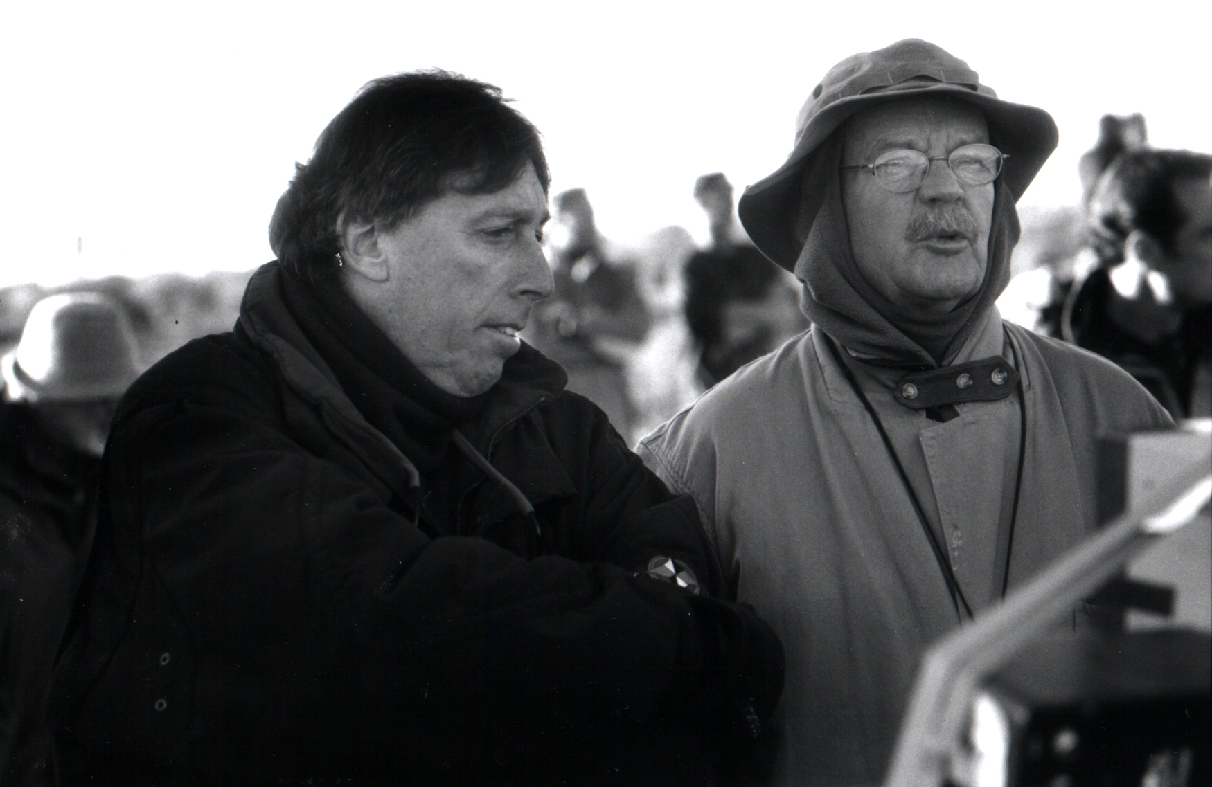 Filming the sci-fi comedy Evolution (2001) with director Ivan Reitman.